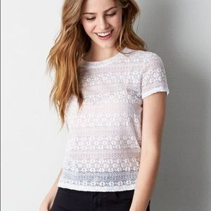 AMERICAN EAGLE LACE BABY T-SHIRT